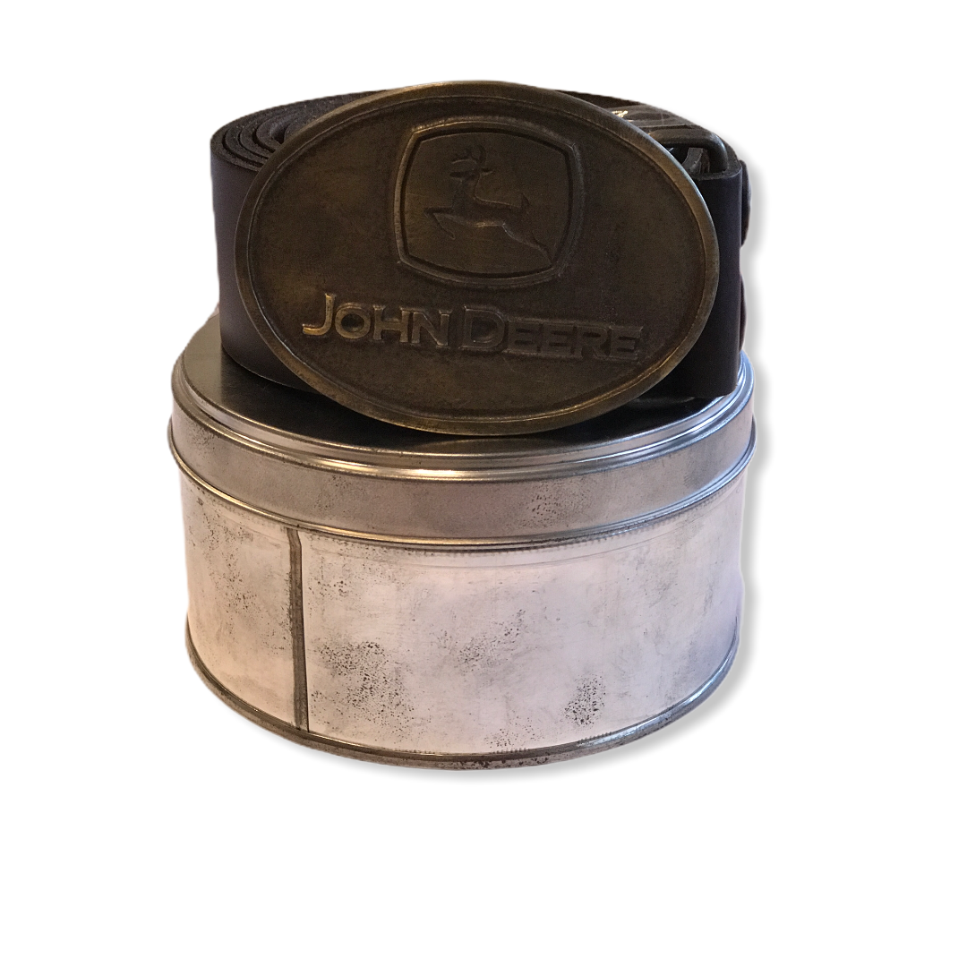 Cintura in cuoio con logo su fibbia John Deere