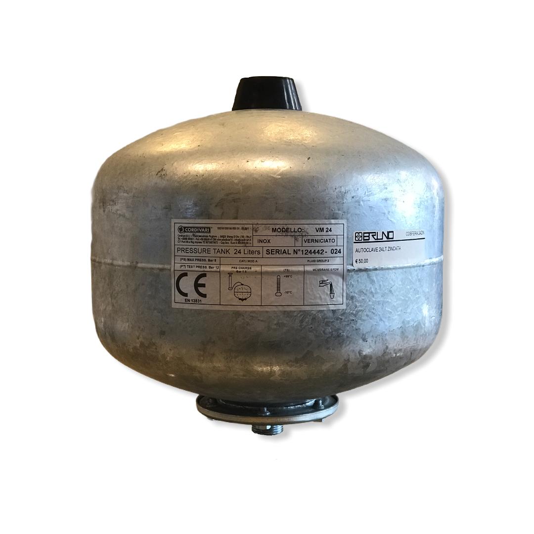 Autoclave vaso 24 LT zincata Cordivari