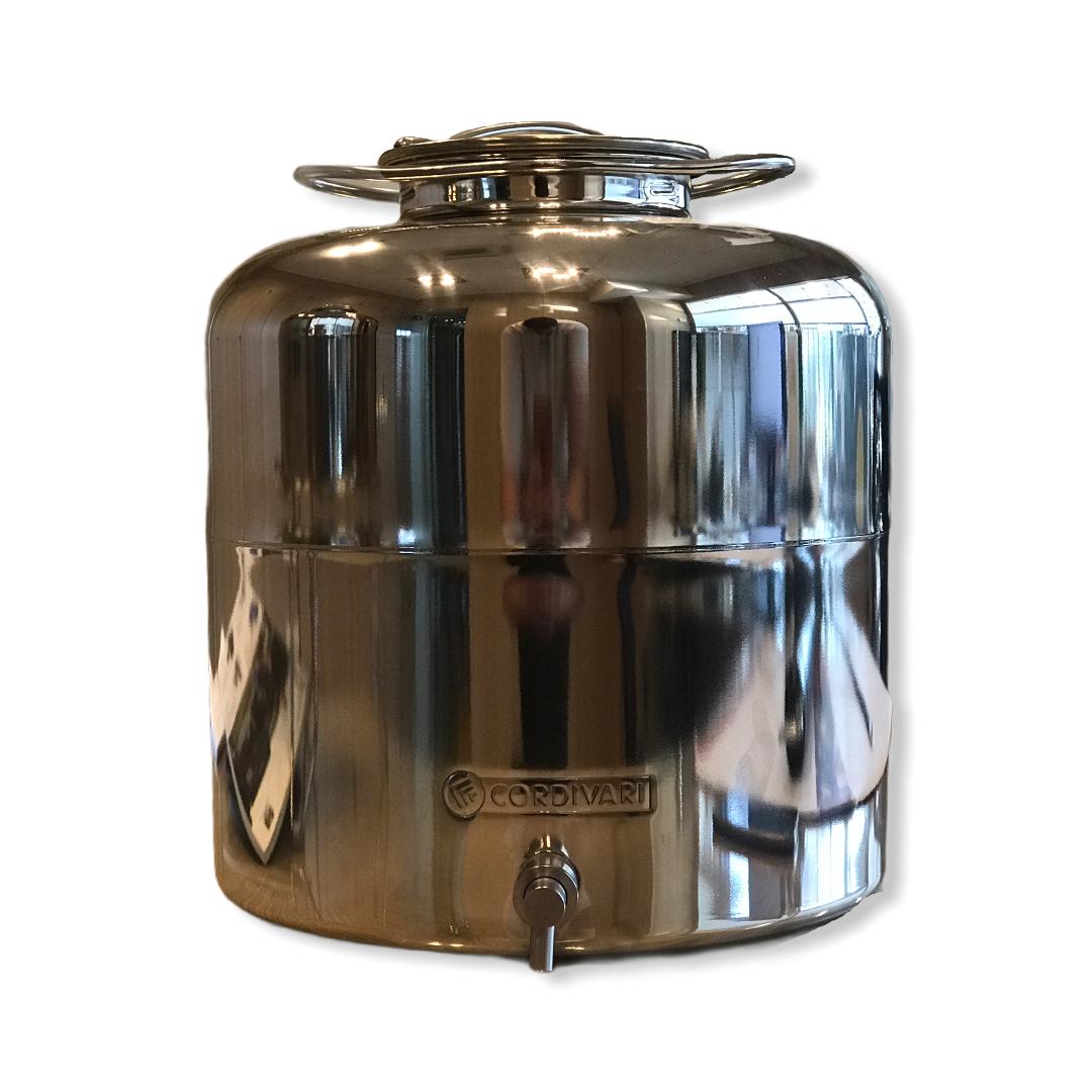 Contenitore anforella olio 15 litri Cordivari INOX