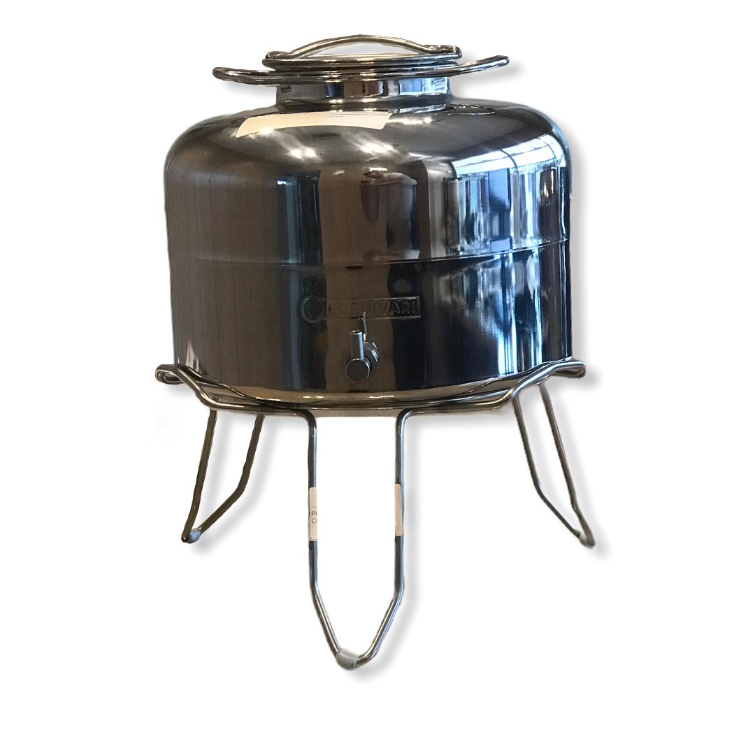 Contenitore anforella olio 10 litri Cordivari INOX con treppiedi