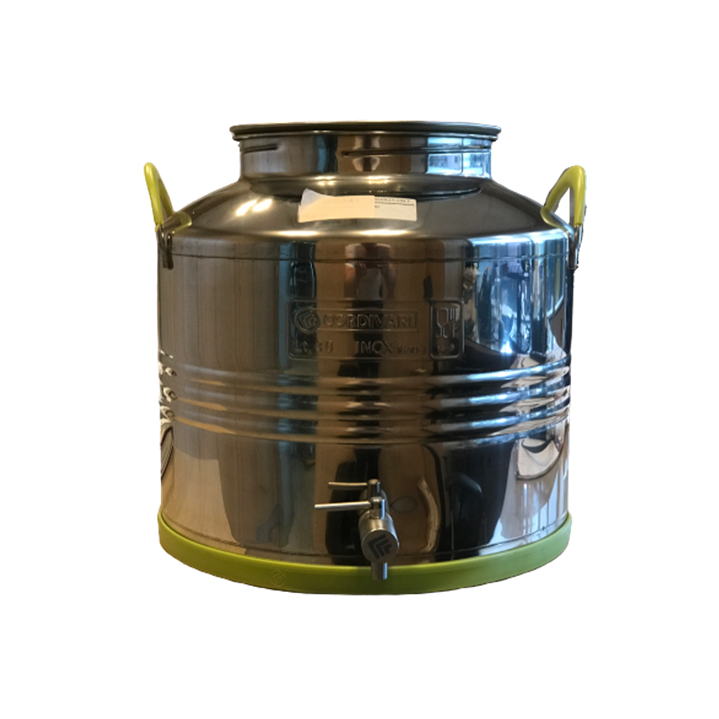 Contenitore olio 30 litri con rubinetto INOX Cordivari