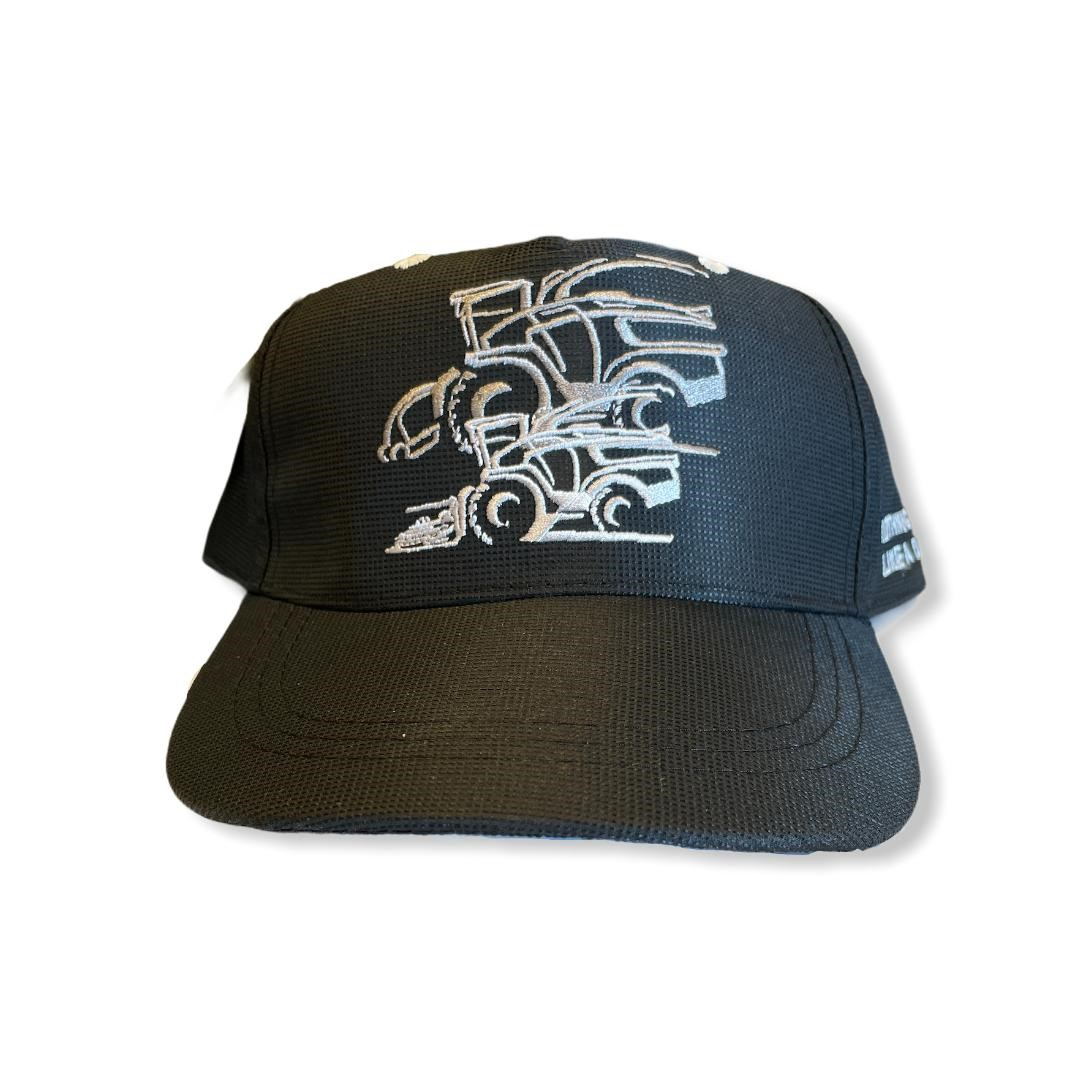 Cappellino John Deere con mietitrebbie nero
