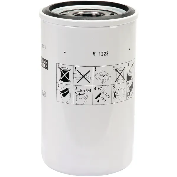 Filtro dell'olio MANN W1223 HITACHI/NEW HOLLAND CONSTRUCTION/TAKEUCHI