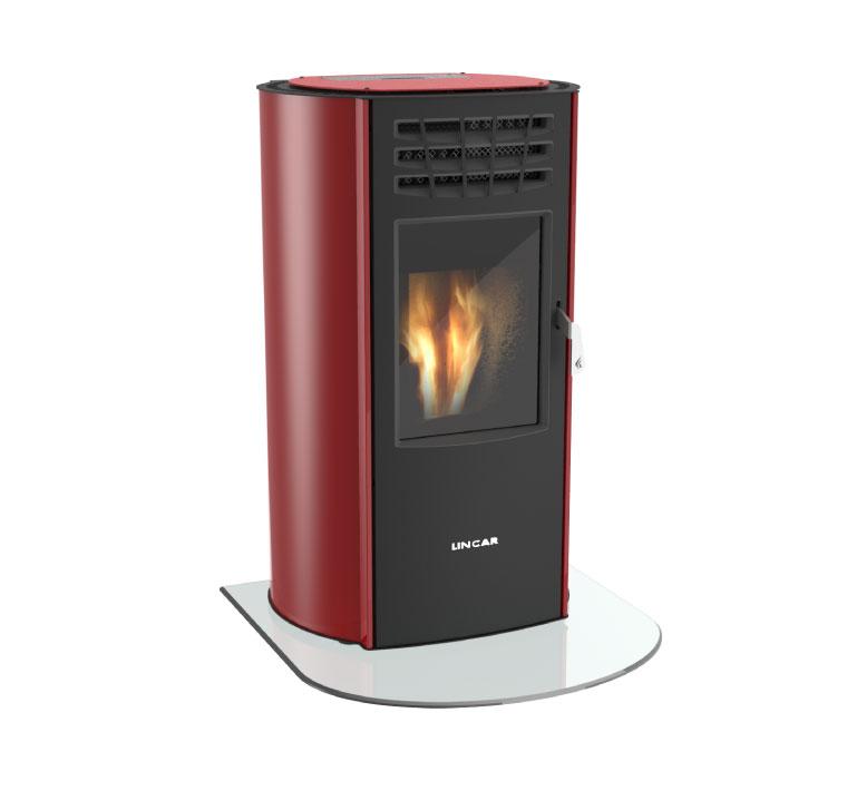 Stufa a pellet ventilata mod. ARIEL 730N da 2,8 a 10,4 kW per ambienti fino a 223 m³