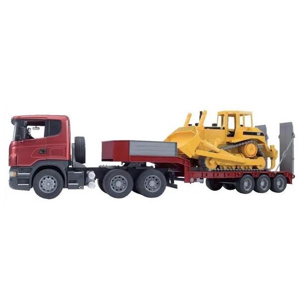 modellini Camion con rimorchio e bulldozer