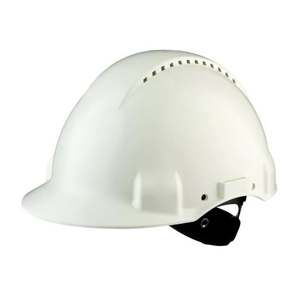 Casco di protezione con manopola G3000 bianco
