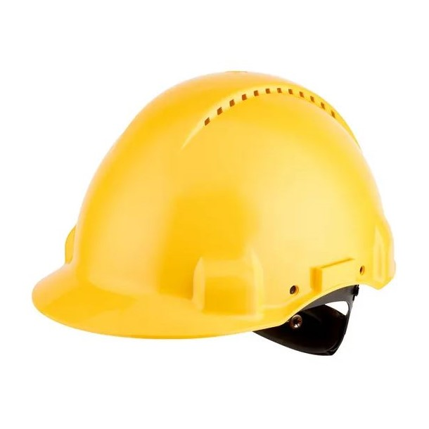 Casco di protezione con manopola G3000 giallo