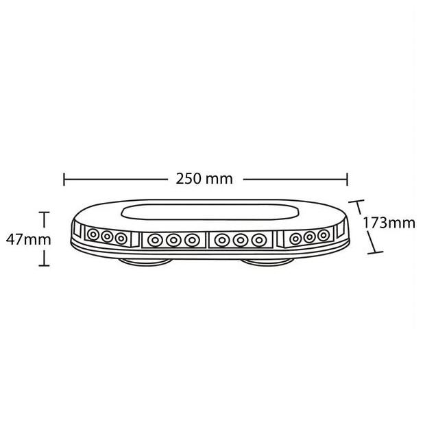 Barra luminosa a LED magnetica 90W