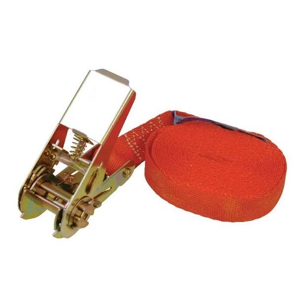 Cinghia di fissaggio con cricchetto 25mmx4m