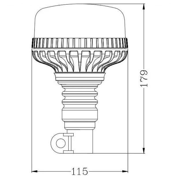 Girofaro LED fissaggio ad asta spina EMC