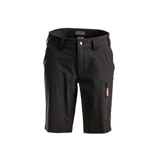 Pantaloncini da uomo elasticizzati nero antracite