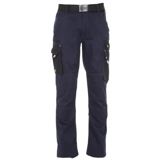 Pantaloni unisex da lavoro Blu Navy CVC twill