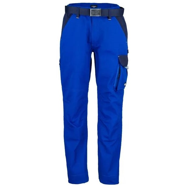 Pantaloni unisex da lavoro Blu T C twill