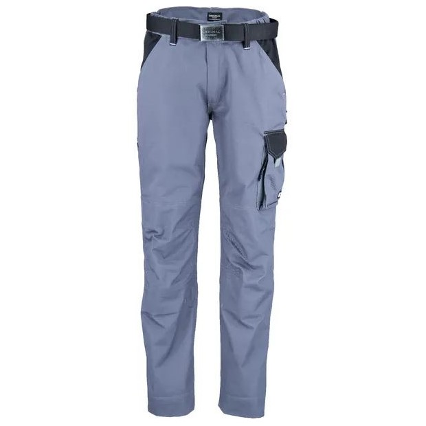 Pantaloni unisex da lavoro Grigio Nero T C twill