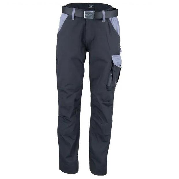 Pantaloni unisex da lavoro Nero Grigio T C twill
