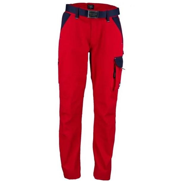 Pantaloni unisex da lavoro Rosso Blu T C twill