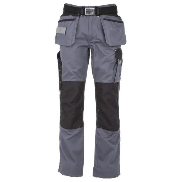 Pantaloni unisex tecnici Grigio Nero T C twill