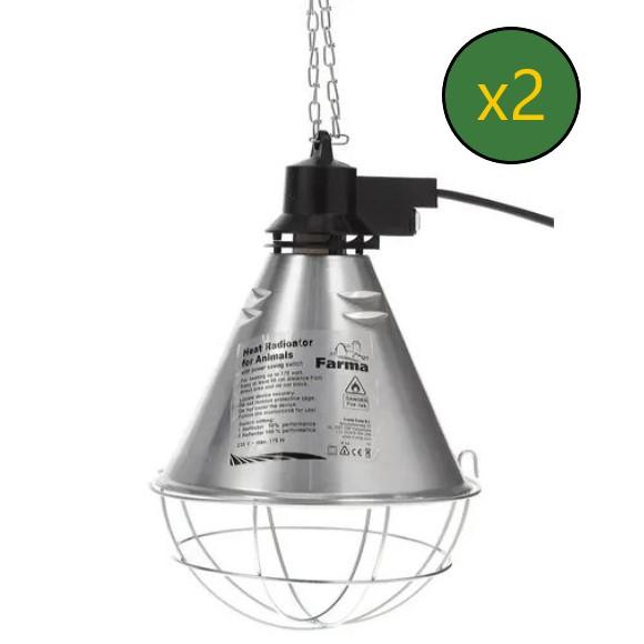 Riflettore per lampada a infrarossi con interruttore