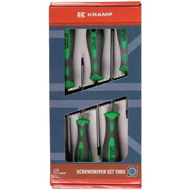 Set cacciaviti Torx 5 pezzi Kramp
