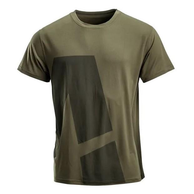 T-shirt uomo Verde scuro con stampa