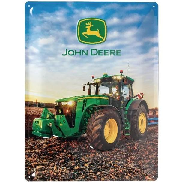 Targa John Deere Pflügt das land