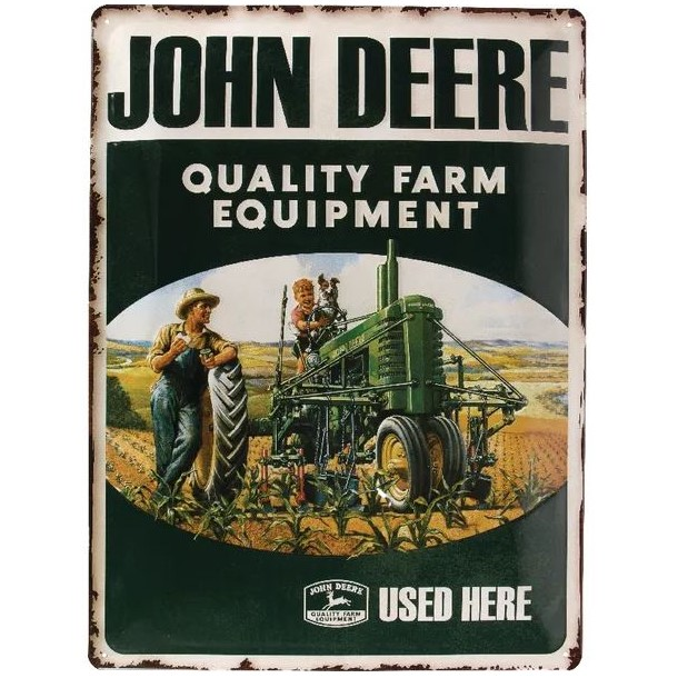 Targa John Deere Qualitätsmaschinen