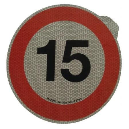 Cartello adesivo limite velocità 200mm 15 km h