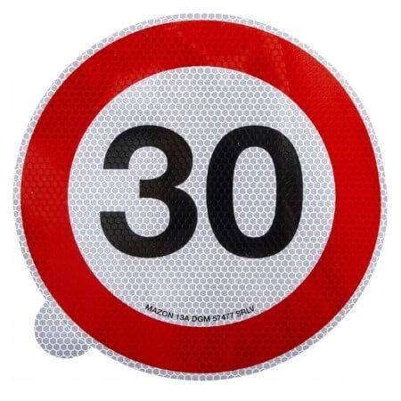 Cartello adesivo limite velocità 200mm 30 km h