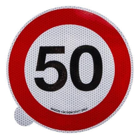 Cartello adesivo limite velocità 200mm 50 km h
