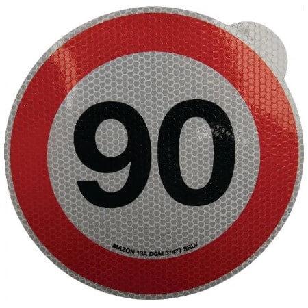 Cartello adesivo limite velocità 200mm 90 km h
